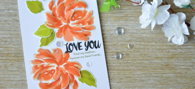 Altenew - BAF - Chrysanthemum - Oriental Orchid - Precious Moments - Therese Calvird (card video) 1 copy