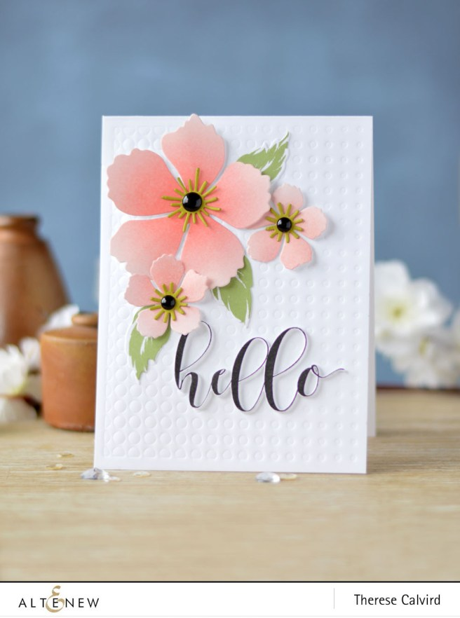 Altenew - BAF Peony Blossom - Flower Arrangement - Halftone Cover Die - Therese (card) 1 copy