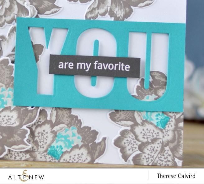 Altenew - Ornamental Flower - Caps Bold Alpha Die - Therese Calvird (card) 1 copy