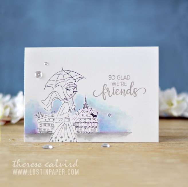 Lostinpaper - Penny Black - Parisian Stroll - Choose Happy (Gimme 5 card video) 1