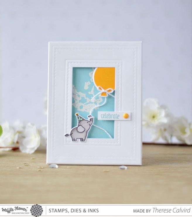 Lostinpaper - Waffle Flower - Rectangle Frame Card (card video)