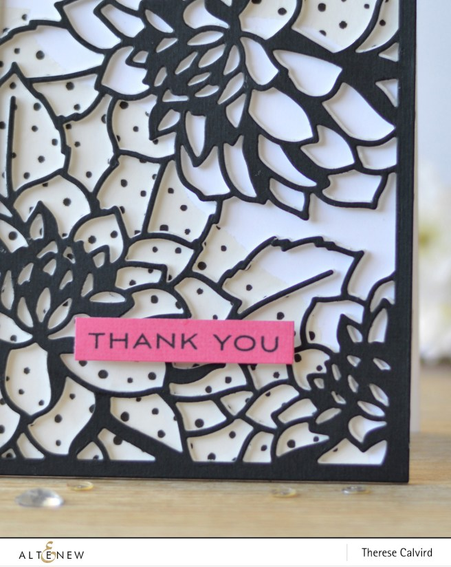 Altenew - Doodled Lace - Layered Floral - Dotted Washi Tape - Therese Calvird (card video) 1 copy