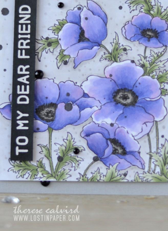 Lostinpaper - Penny Black - Poppy Gems - Altenew - Mega Greetings (card video) 1