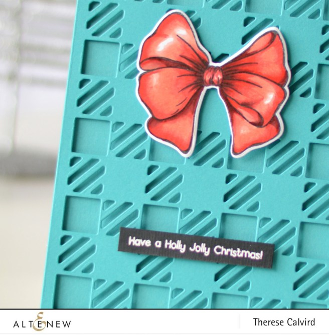 Altenew - Holiday Bow - Cozy Flannel Cover Die - Therese Calvird (card) 1 copy
