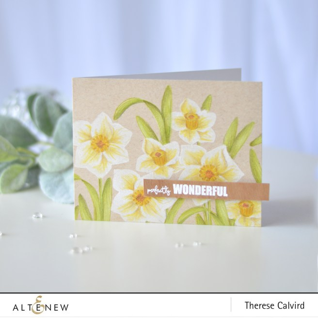 Altenew - BAF Daffodil - You Are - Therese Calvird (card video) 1 copy
