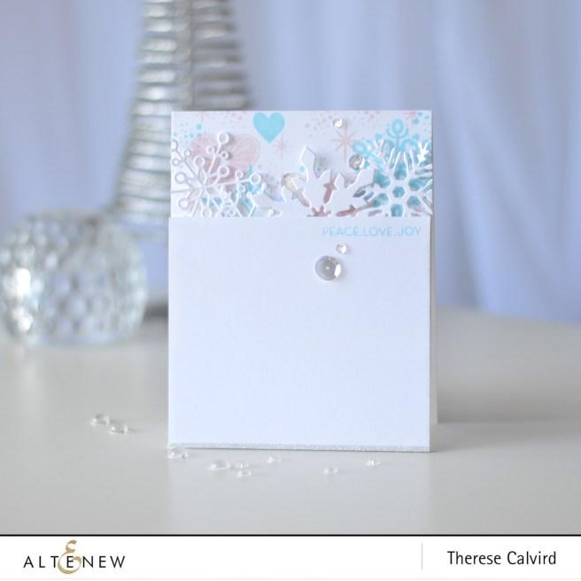 Altenew - Layered Snowflake Die - Peace Love Joy - Therese Calvird (card) 1 copy
