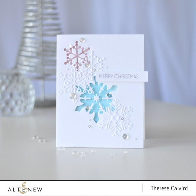 Altenew - Layered Snowflake Die - Starry Night - Therese Calvird (card) 1 copy