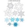Layered Snowflakes Die
