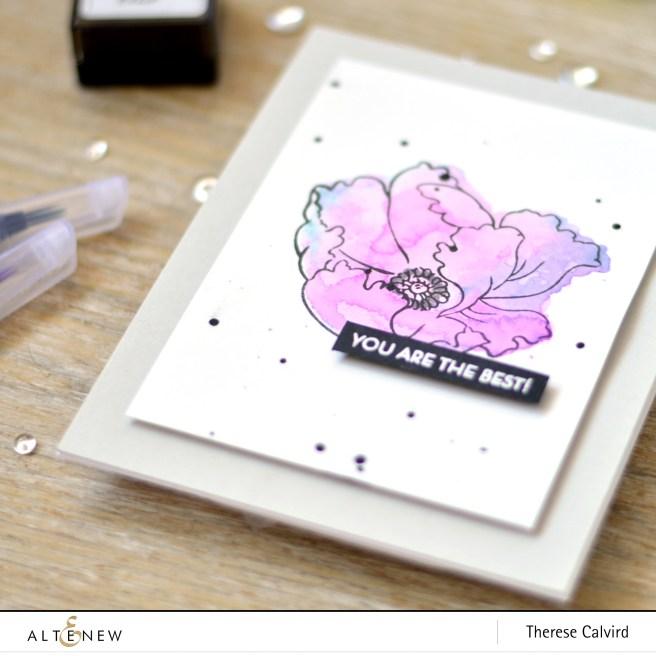 Altenew - BAF - Poppy - Leaf Canopy (card) 1 copy