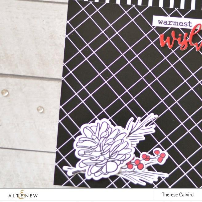 Altenew - Black& White Paper Pack - Poinsettia & Pine - Therese Calvird (card) 1 copy