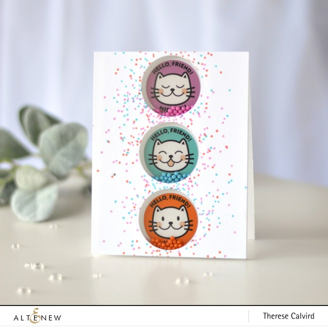 Altenew - Kind Confetti - Friendly Cat Stickers - Therese Calvird (card) 1 copy