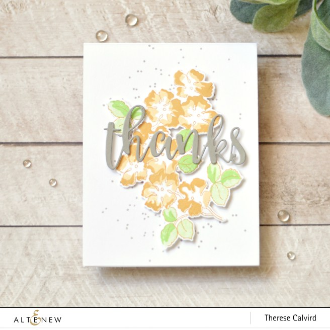 Altenew - Ruffled Flowers - Kind Confetti - Therese Calvird (card) 1 copy