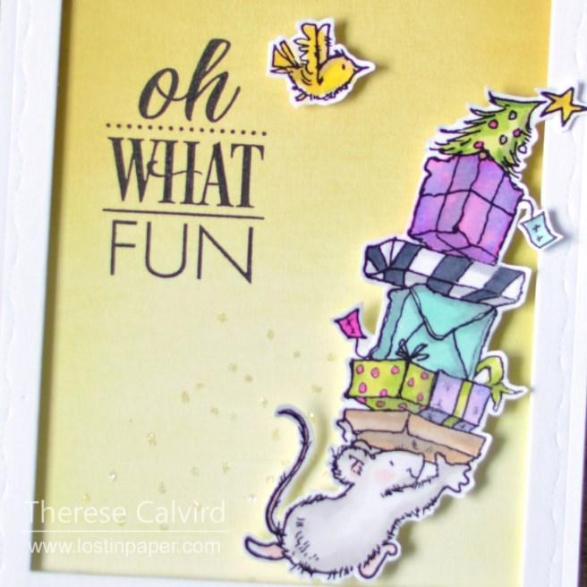 Lostinpaper - Penny Black - Christmas Fun - Believe (card video) 1