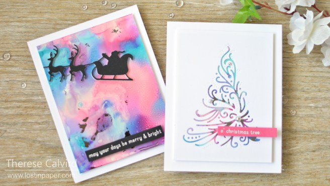 Lostinpaper - Same But Different Christmas Card Series 2018 - Yupo & Foil (1)
