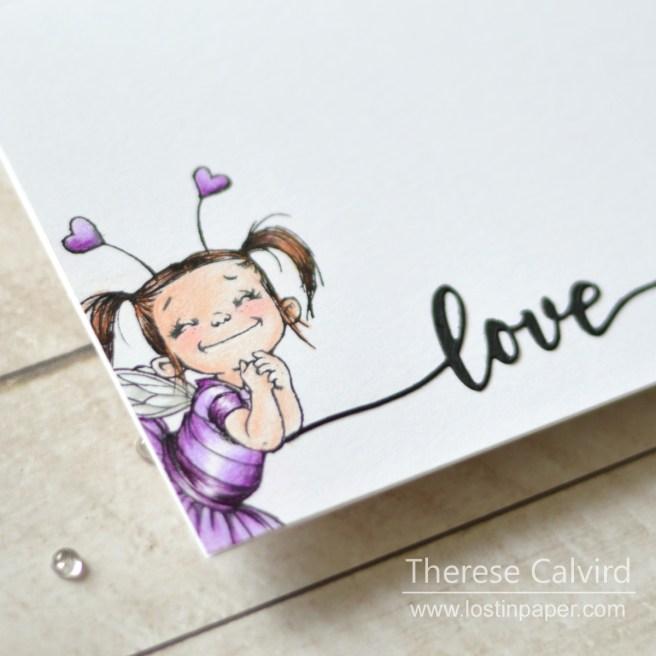 Lostinpaper - Penny Black - Fairy Love - Love & Miss You (card) 1