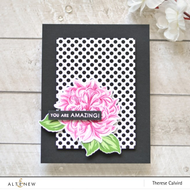 altenew - baf - japanese mum - sentiments & quotes - therese calvird (card) 1 copy