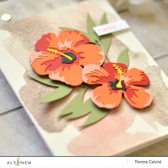 altenew - hibiscus 3d die - stained glass window - therese calvird (card) 1 copy