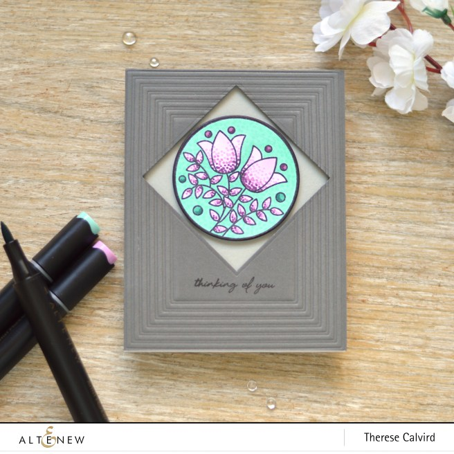 altenew - stained glass window - fine frames - artist markers d - therese calvird (card) 1
