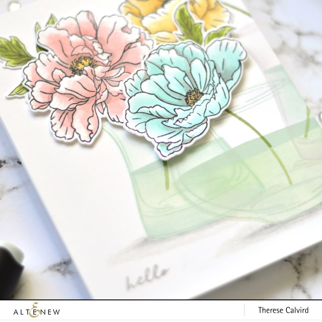 Altenew - Versatile Vases - Beautiful Peony -Take 2 with Therese (card video) 1 copy