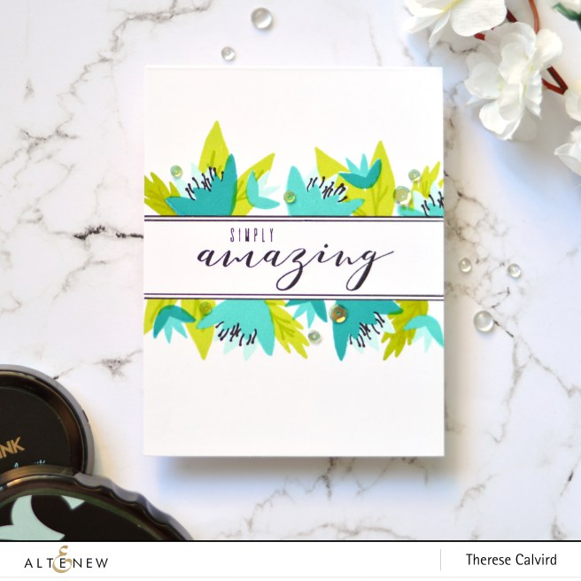 Altenew - Bright Blossoms - Painted Greetings - Therese Calvird (card video) 1 copy