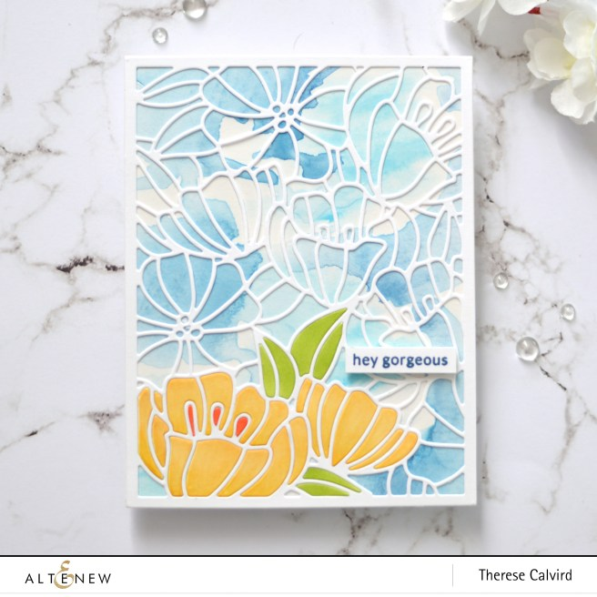Altenew - Dainty Blooms Cover Die - Delicate Flower Bed - Therese Calvird (card video) 1 copy