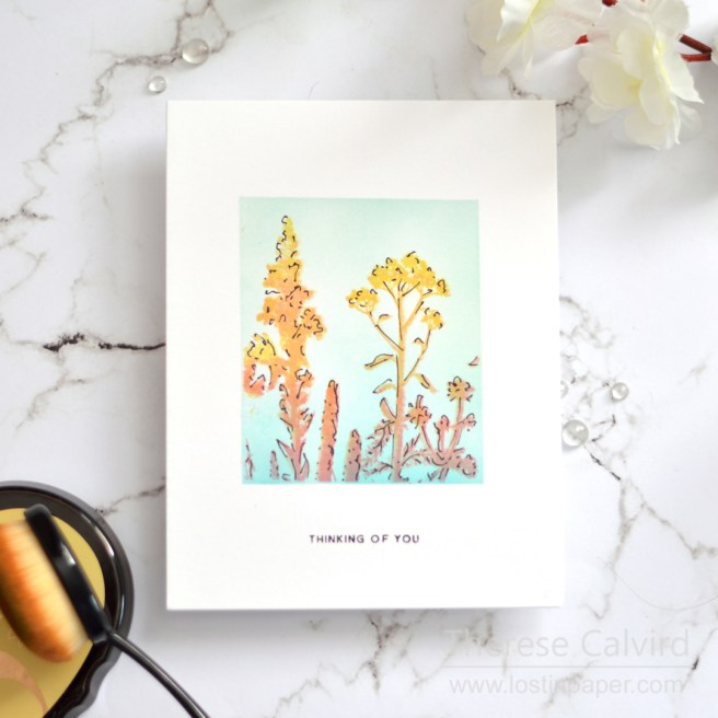 Lostinpaper - Wildflowers - Silhoutte Cards - SSS (card video) 1