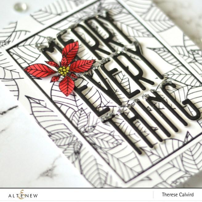 Altenew - Modern Poinsettia - Tall Alpha - Fine Frames - Therese Calvird 1 copy