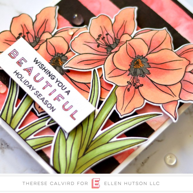 Lostinpaper - Ellen Hutson - Mondo Amaryllis (card video) 1 copy