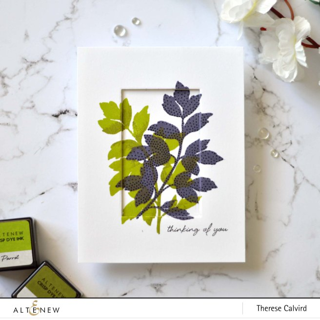 Altenew - Dot Botanicals - Thinking of You - Therese Calvird (card) 1 copy