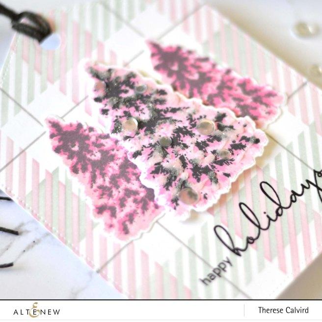 Altenew - Plentiful Pine - Buffalo Plaid Stencil - Therese Calvird (Banner Tag) (1) copy