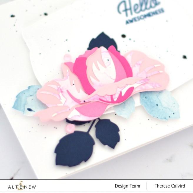 Altenew - Open Bloom 3D Die - Nesting Frames - Therese Calvird (card video) 1 copy