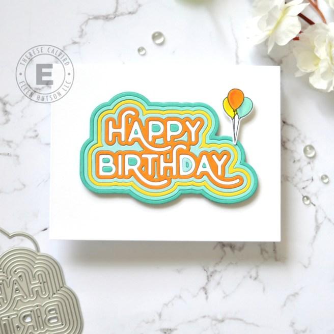 Lostinpaper - Waffle Flower Crafts - Rainbow Birthday Die (card) 1