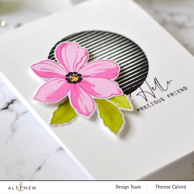 Altenew - Spheres & Spirals - Fabulous Florets - Therese Calvird (card) 1 copy