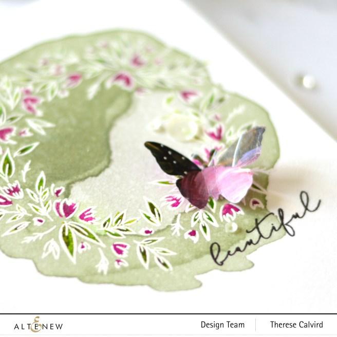 Altenew - Blossom Wreath - Therese Calvird (card video) 1 copy
