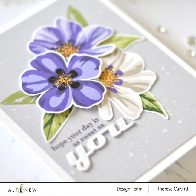 Altenew - Flowering Cistus - Therese Calvird (card) 1 copy