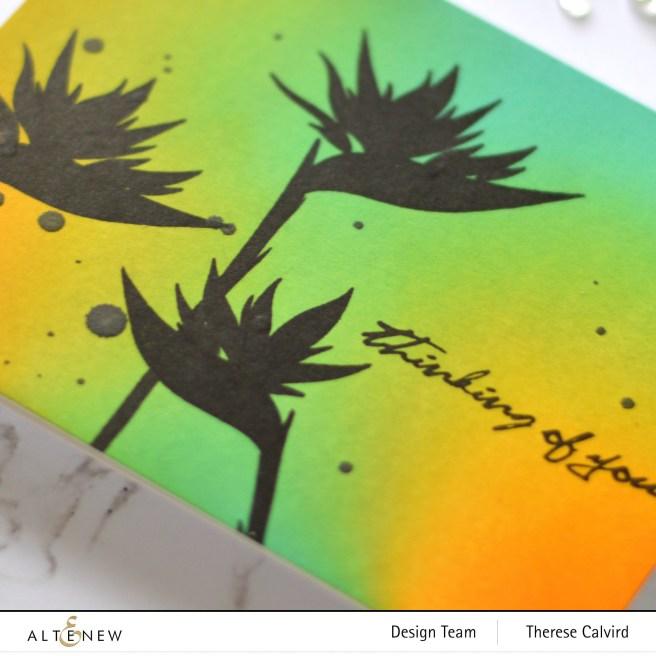 Altenew - Bird of Paradise - Ink Blending Tool - Therese Calvird (card video) 2 copy