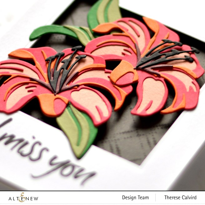 Altenew - Craft-A-Flower - Lily - Dotted Diamonds - Therese Calvird (card) 1 copy