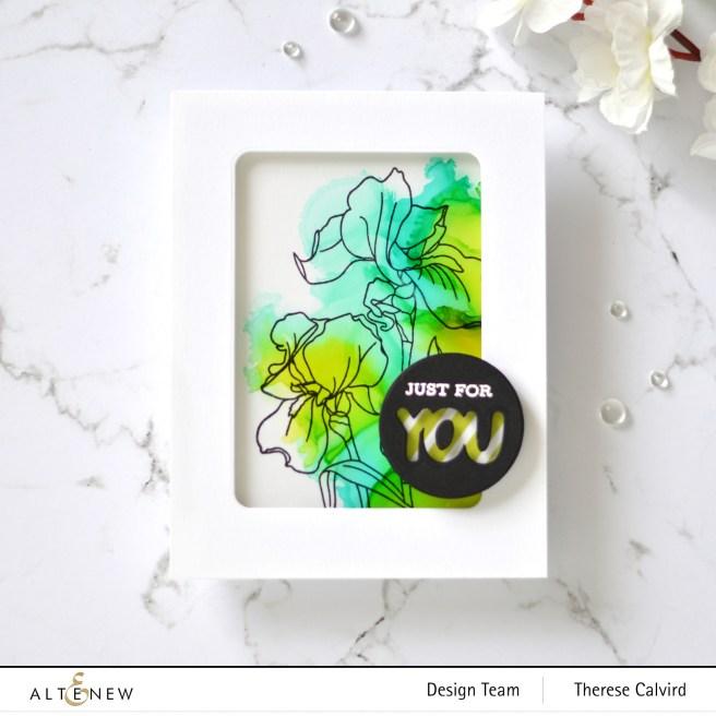 Altenew - PAF - Iris - Flowering Cistus - Therese Calvird (card video) 1 copy