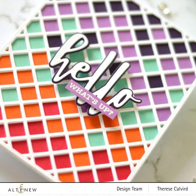 Altenew - Garden Trellis Cover Die - Hello and Hugs - Sentiment Strips 2 1 copy