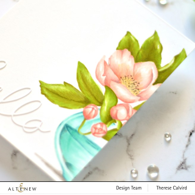 Altenew - PAF Paenonia Japonica - Versatile Vases - Handwritten Hello 2 copy