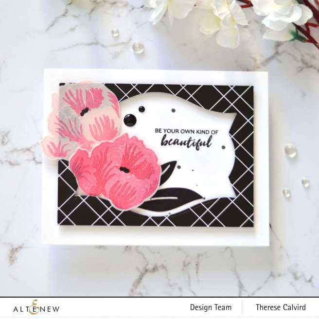 Altenew - Mixed Media Ink Product Focus - Poppy - Nesting Labels - Anemone - Take 2 With Therese 7 copy