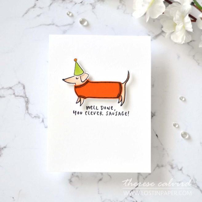 Lostinpaper - Ellen Hutson - Clever Sausage (card) 6.jpg