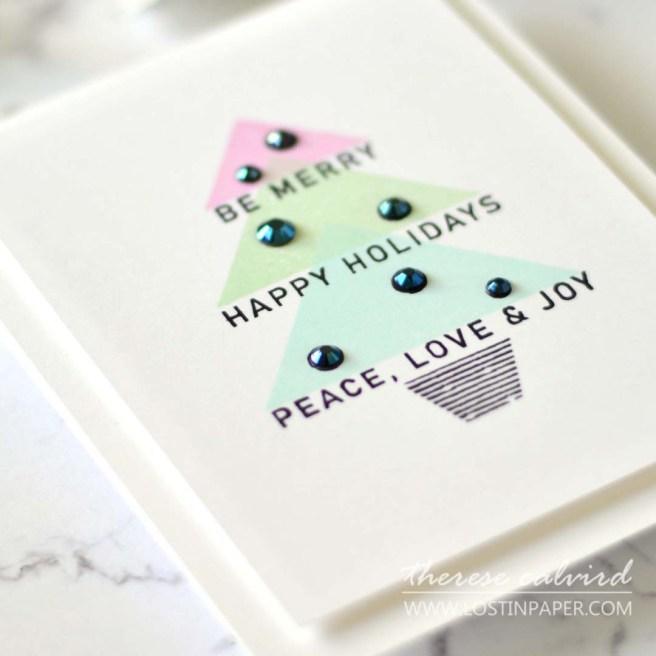 Lostinpaper - Reverse Confetti - Peace Tree - Joyful Holiday Wishes (card) 2
