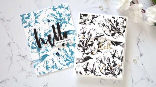 Altenew - Build-A-Flower-Parrot Tulip - Apothecary Labels Dies - Signature Words Die 1 copy