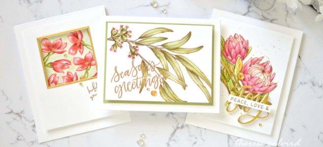 Lostinpaper - Australian Floral Christmas Cards (card video) 2