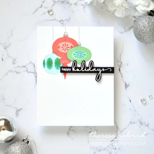 Lostinpaper - Altenew - Brilliant Baubles - Plentiful Pine (card video) 1