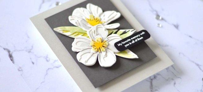 Altenew - Craft-A-Flower - Cistus - Featured Sentiments Die Set (card video) 1