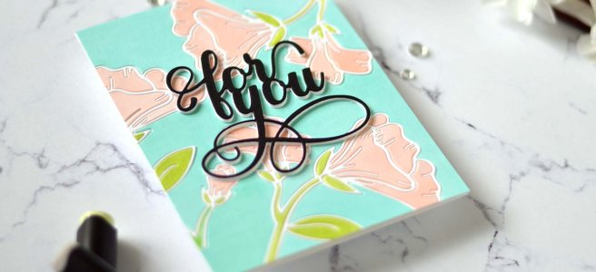 Altenew - Whimsical Garden Layering Die Set - Fancy For You Die (card video) 2
