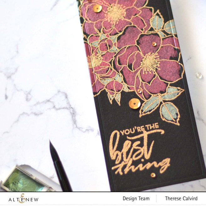 Altenew - Fairy Tale Florals - Nesting Slim Rectangles Die - Metallic Watercolor - Take 2 With Therese (card video) (2) copy