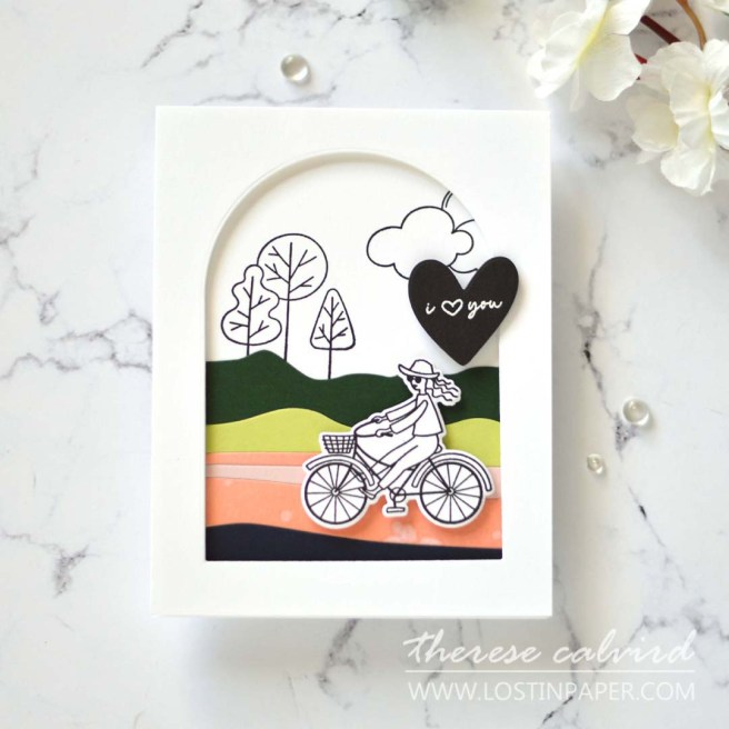 Lostinpaper - Ellen Hutson - Good Day - Essential Arches - Abstract Sunset - High Five - Love Notes (card) (1)